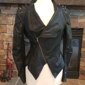 Love Tree biker jacket, with shoulder spikes